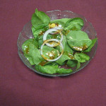 Spinach Salad with the amazing Trading Post Spinach Salad Dressi